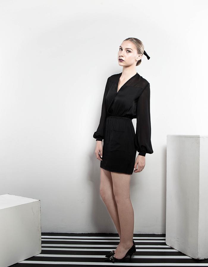 The Black Silk dress
