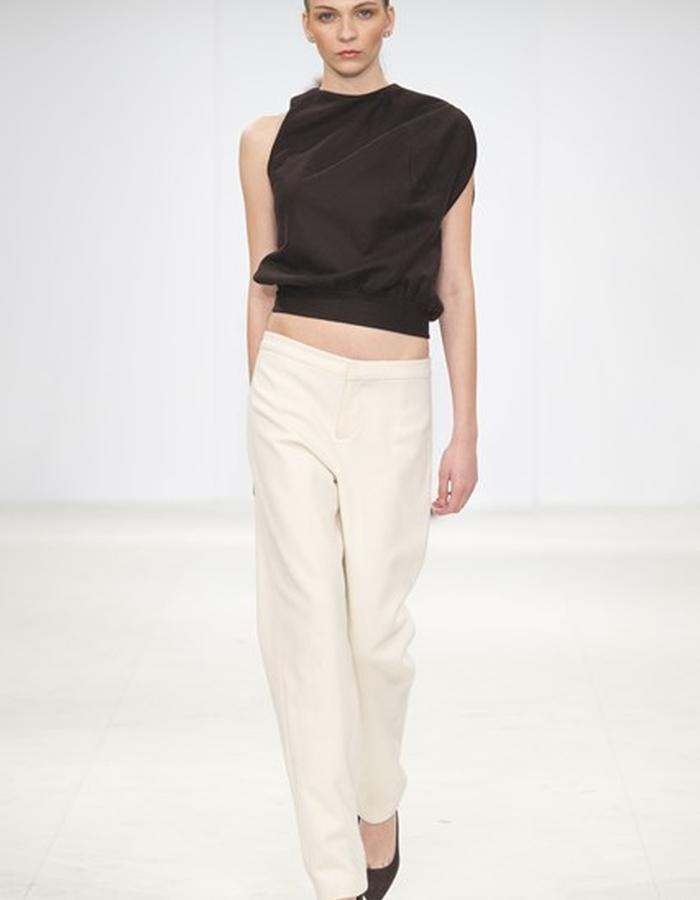 BROWN#WHITEWOOL#TROUSERS#COCOON#TOP