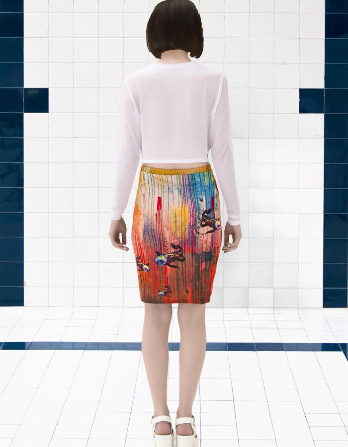 Dead Sleekit co-ord crop top with skirt