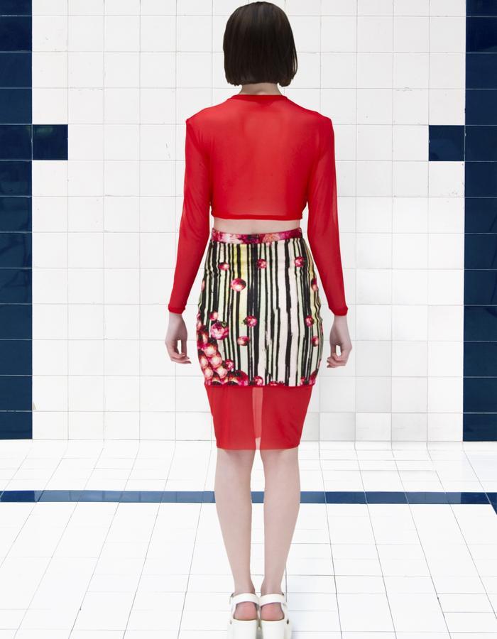 Dead Sleekit co-ord top with skirt