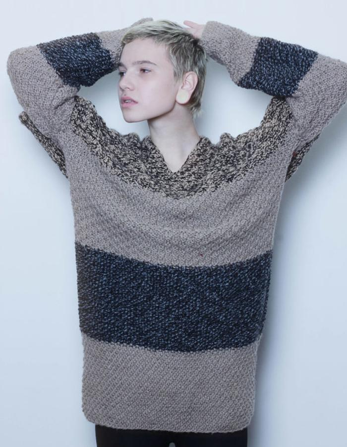 WOOL HANDKNITED DRESS