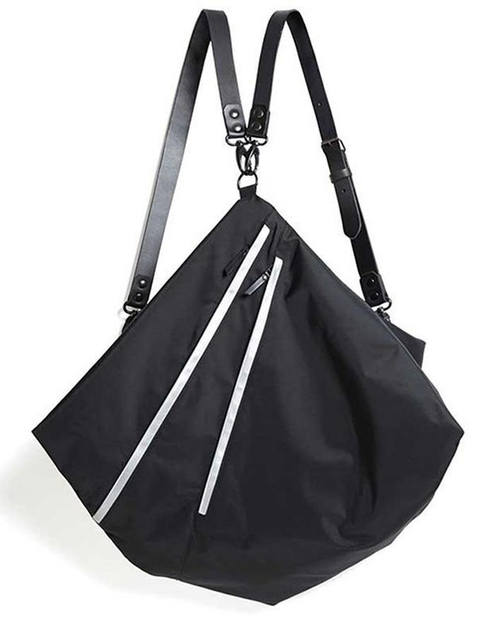 Hanbury black multifunctional bag with reflective detail