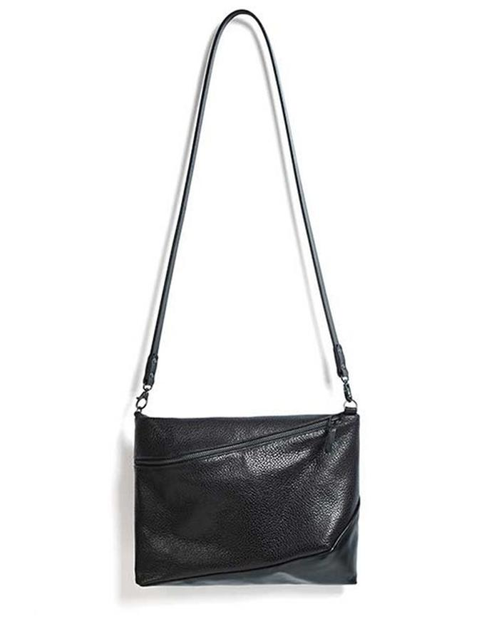 Clifton black embossed bag