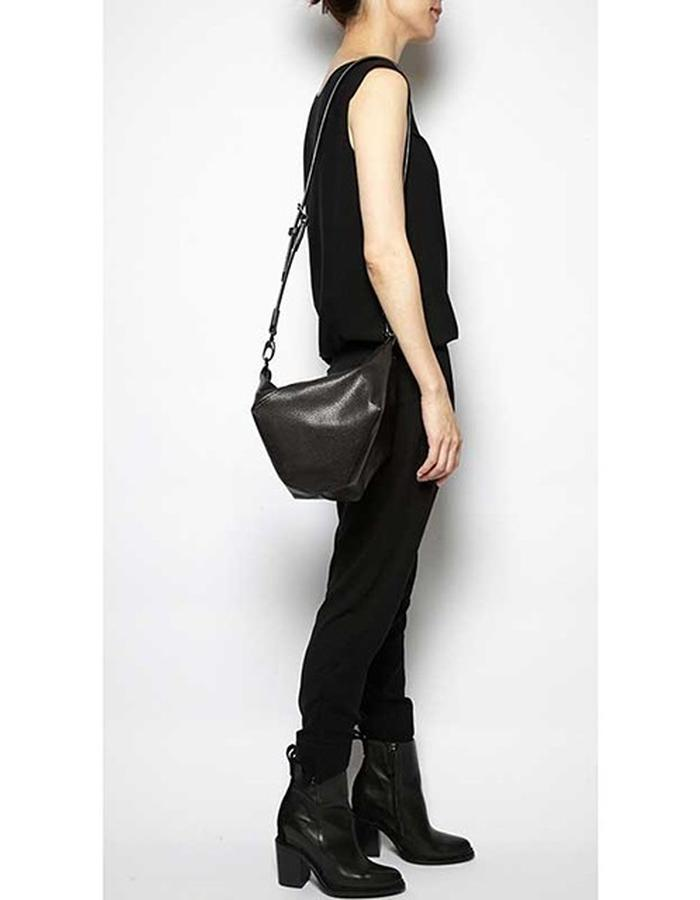 Belmore black embossed bag