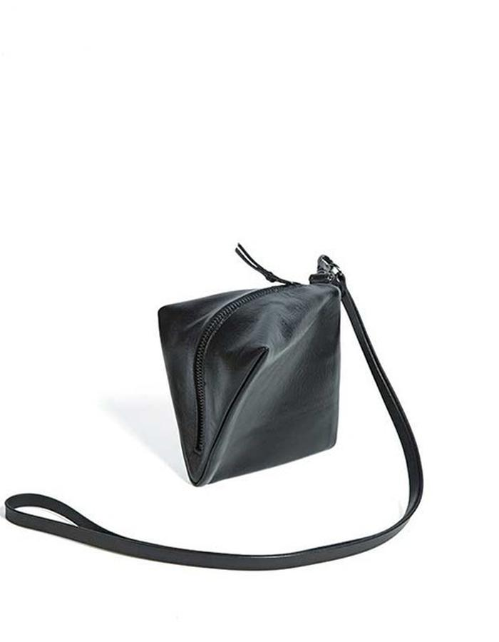 Square black purse