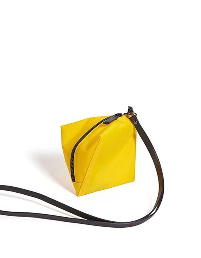 Square yellow purse