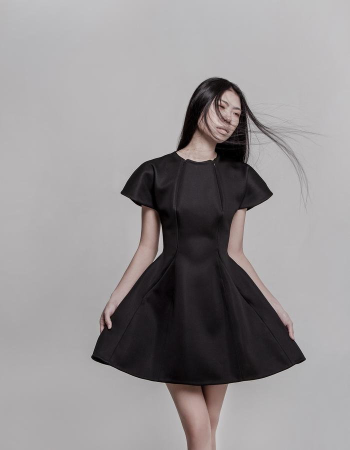 Look 1 Neoprene dress -front