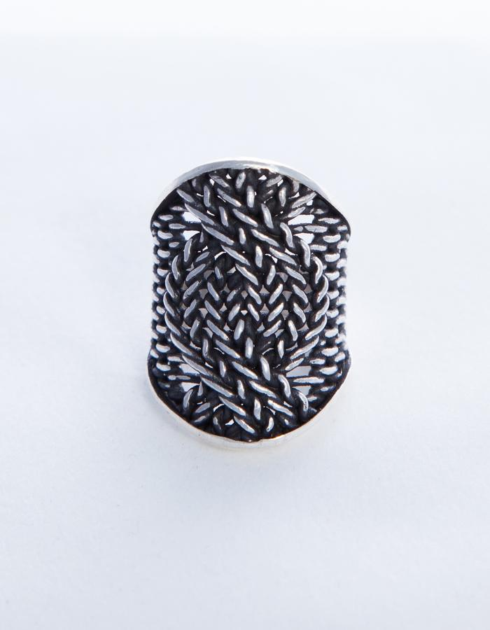 HUU NGO Ring cable knit long