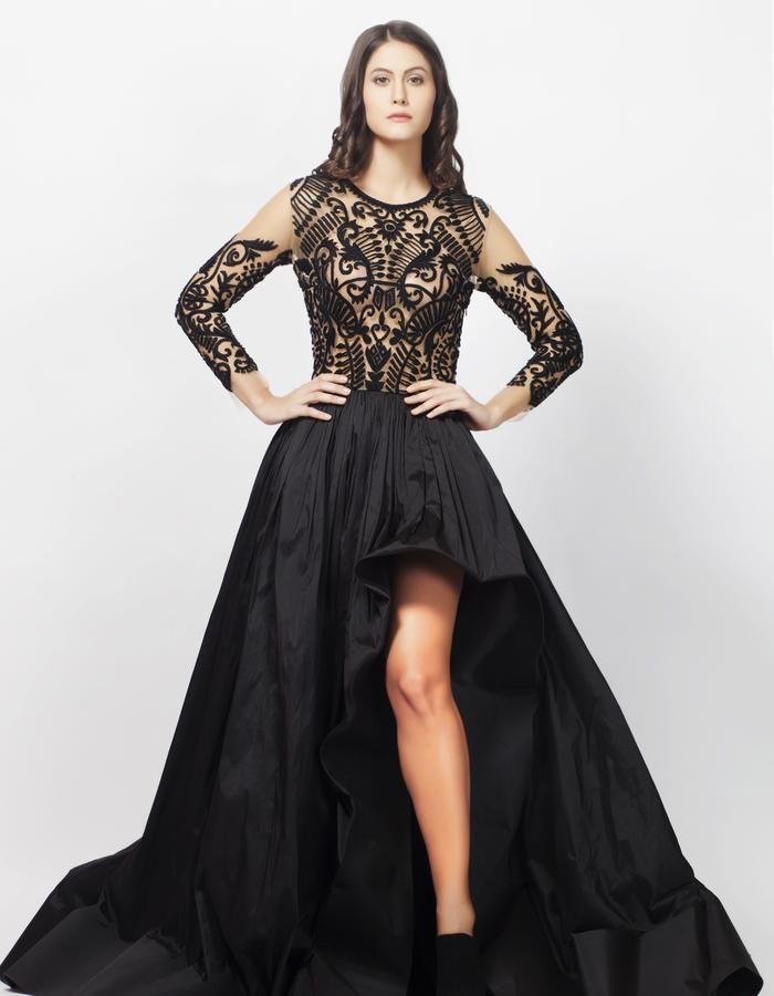 Black Anchor Ball Gown