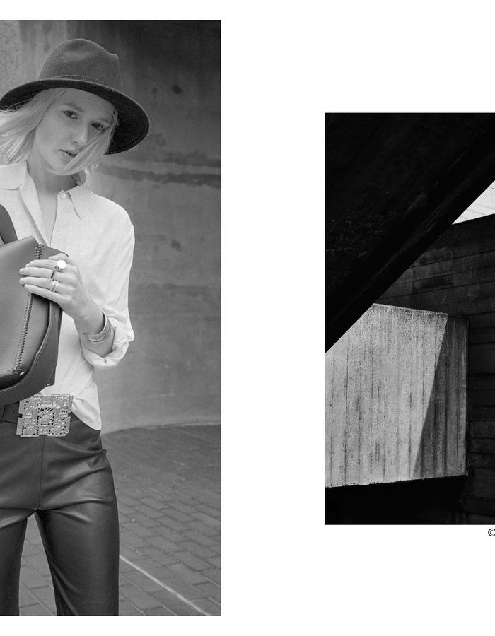 Lauren Geoghegan handbags handcrafted in London, new leather accessories look book. Photography by Morgan Hill-Murphy.