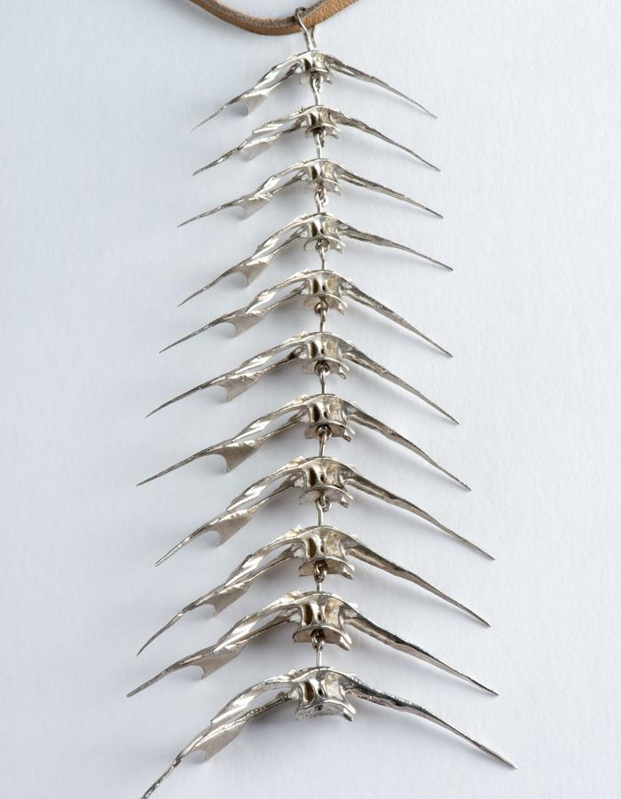Parthenope Fish spine necklace