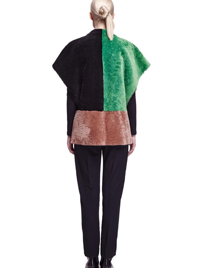 ONAR Ipek Vest Brightgreen, Almond & Black