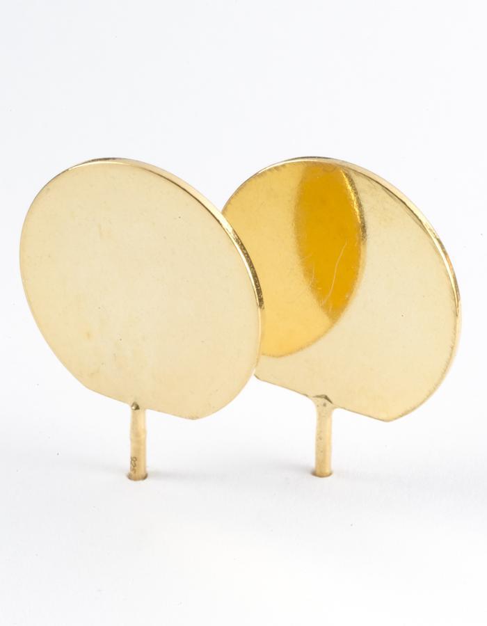 3D Dot Ear Stud (G)/ Large