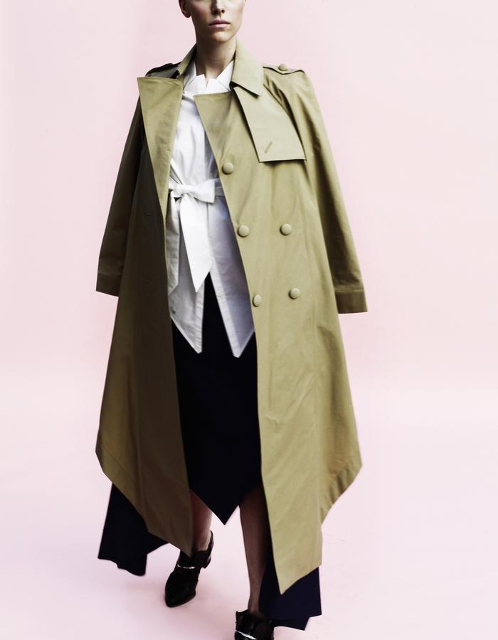 YOJIRO KAKE  SS Origami trench coat 100% Cotton