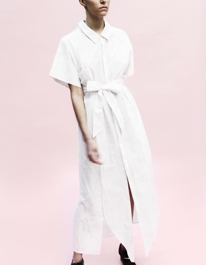 YOJIRO KAKE  SS Origami long shirt 100% Cotton