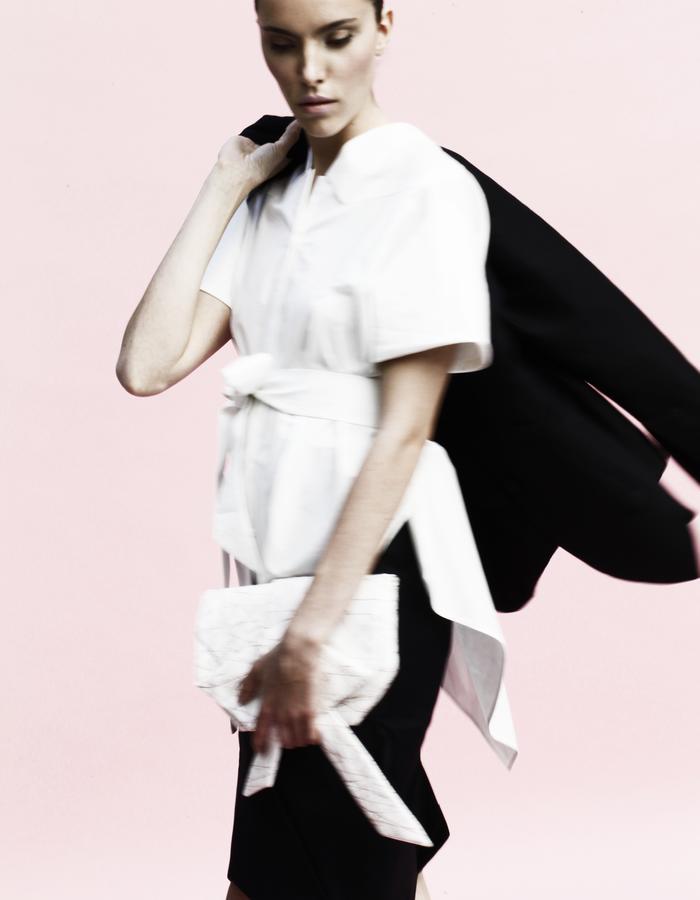 YOJIRO KAKE  SS Origami classic shirt 100% Cotton, pencil skirt 100% Cotton