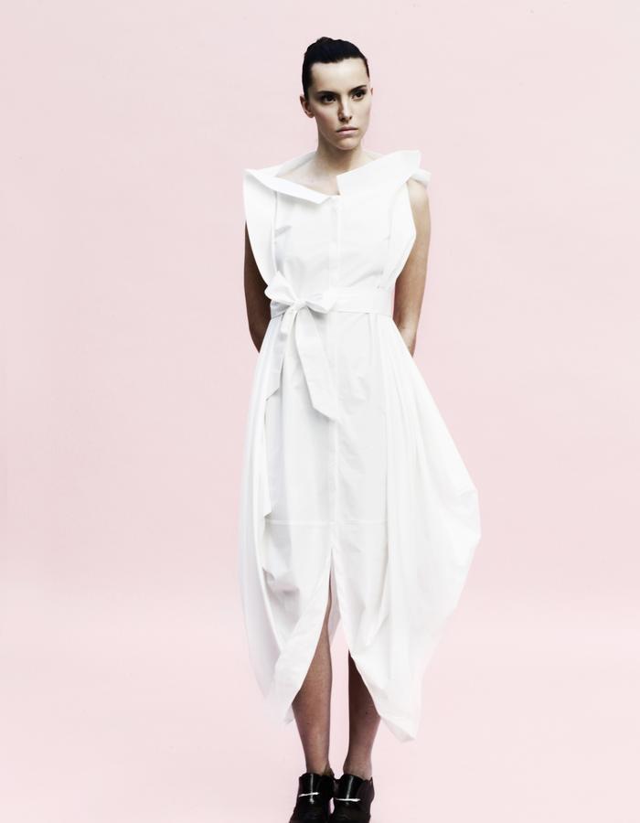 YOJIRO KAKE  SS Origami buri shirt dress 100% Cotton