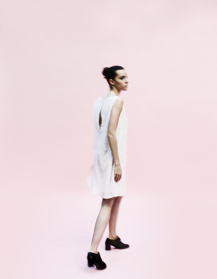 YOJIRO KAKE  SS Origami printed one peace dress 100% Silk
