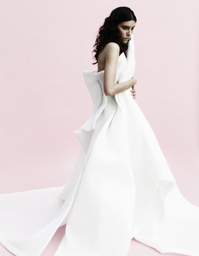 YOJIRO KAKE  SS Wedding white dress 100% Polyester