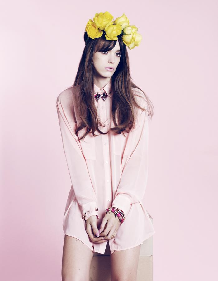 MFP Can't Buy Me Love Collection Lookbook starring Stacy Martin