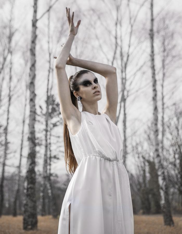 summer dress, white dress, plisse dress