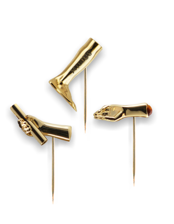 LAPEL PIN SET GOLD PLATED