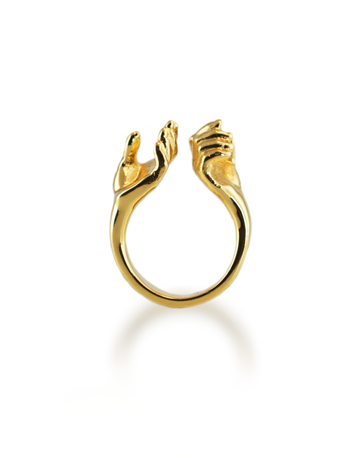 A SECRET RING GOLD PLATED