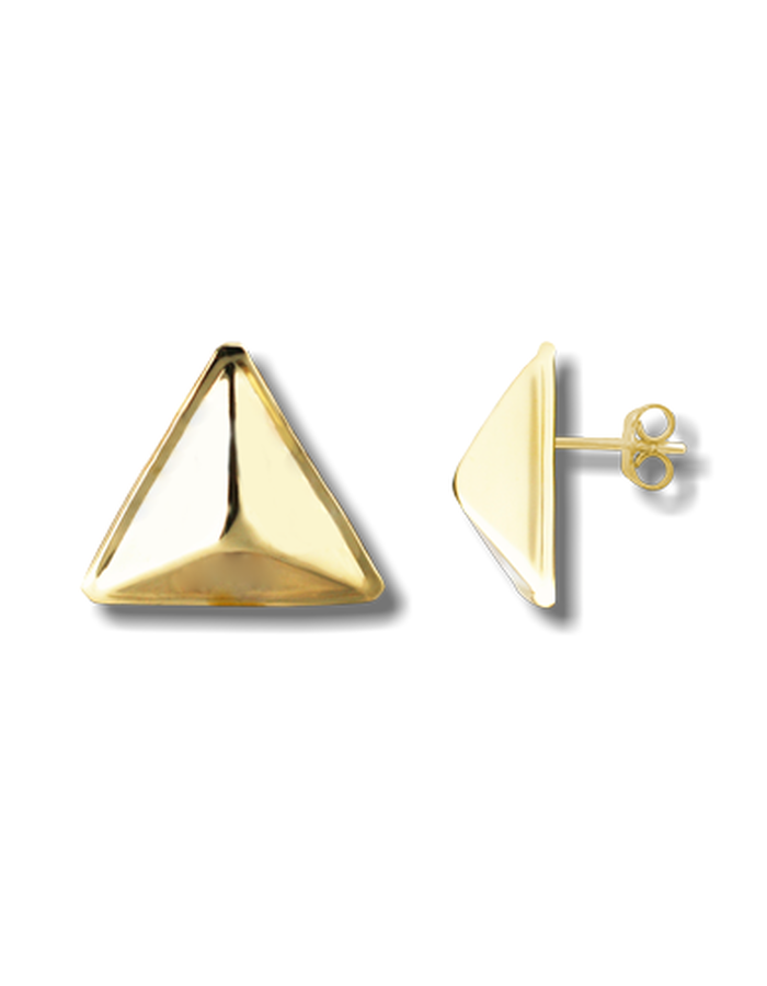 DELTA PIN EARRING GOLD PLATED