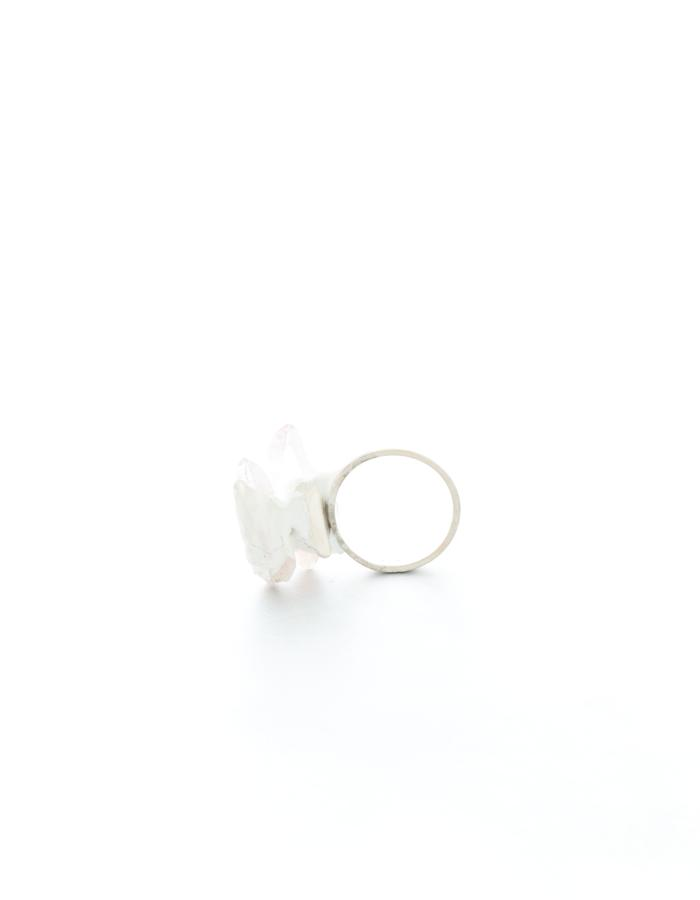 Radically uncorrupted by the past, ring, silver, quartz, pigment, resin, Izabella Petrut