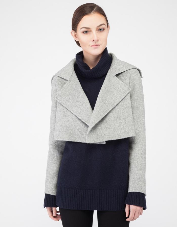 Mute by JL signature 2-piece handmade cashmere coat JL001 jacket