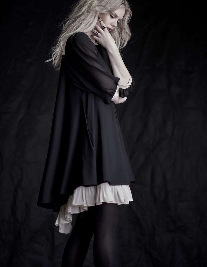 Martinet Noir cloche dress