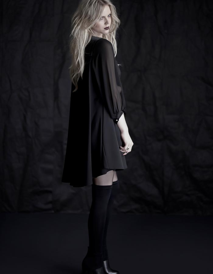 Martinet Noir black cloche dress