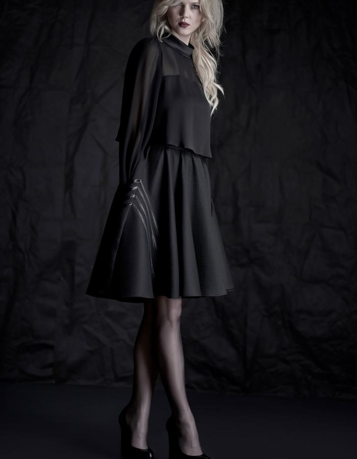 Martinet Noir custom made SKIRT & TOP