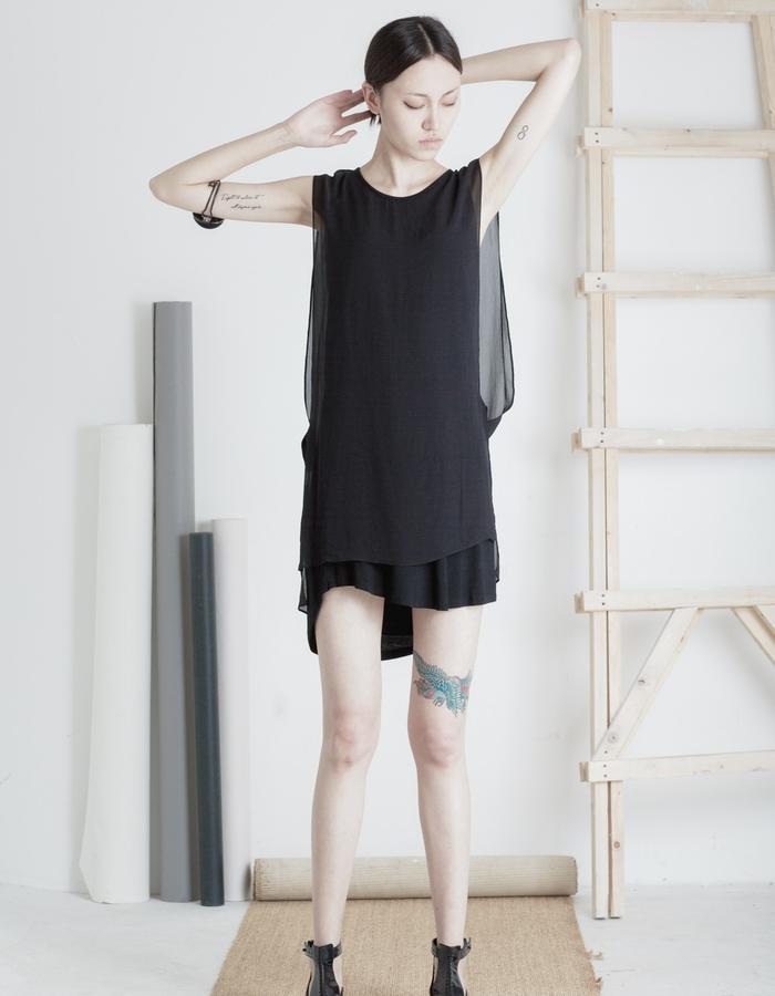 Mute by JL 2015 Spring silk dress