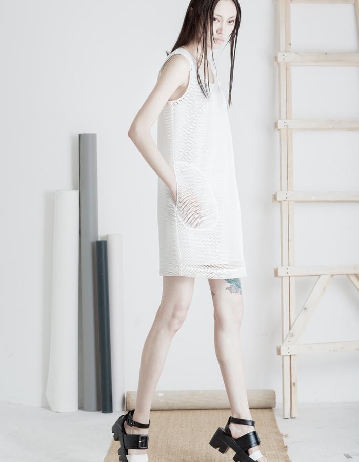 Mute by JL 2015 Spring mesh dress