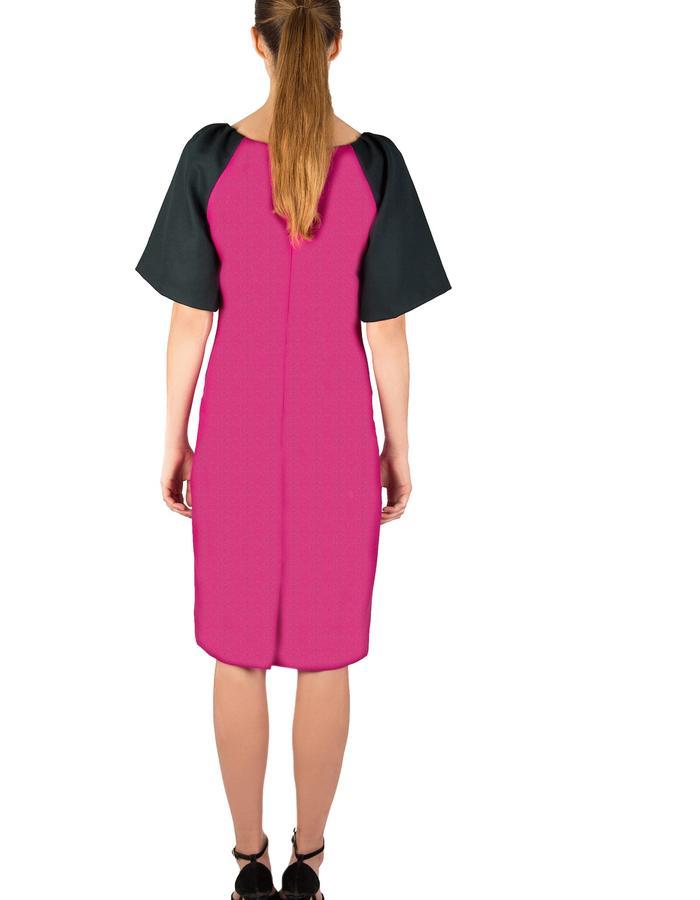 MAGENTA MERINO WOOL DRESS