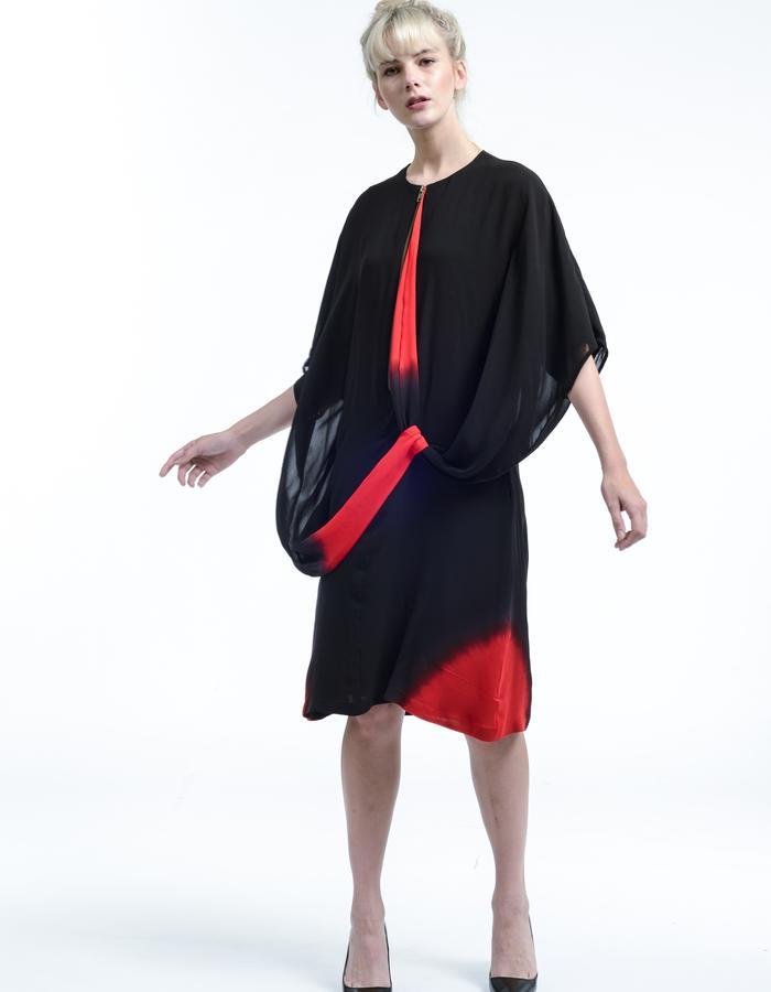 red black layla dress