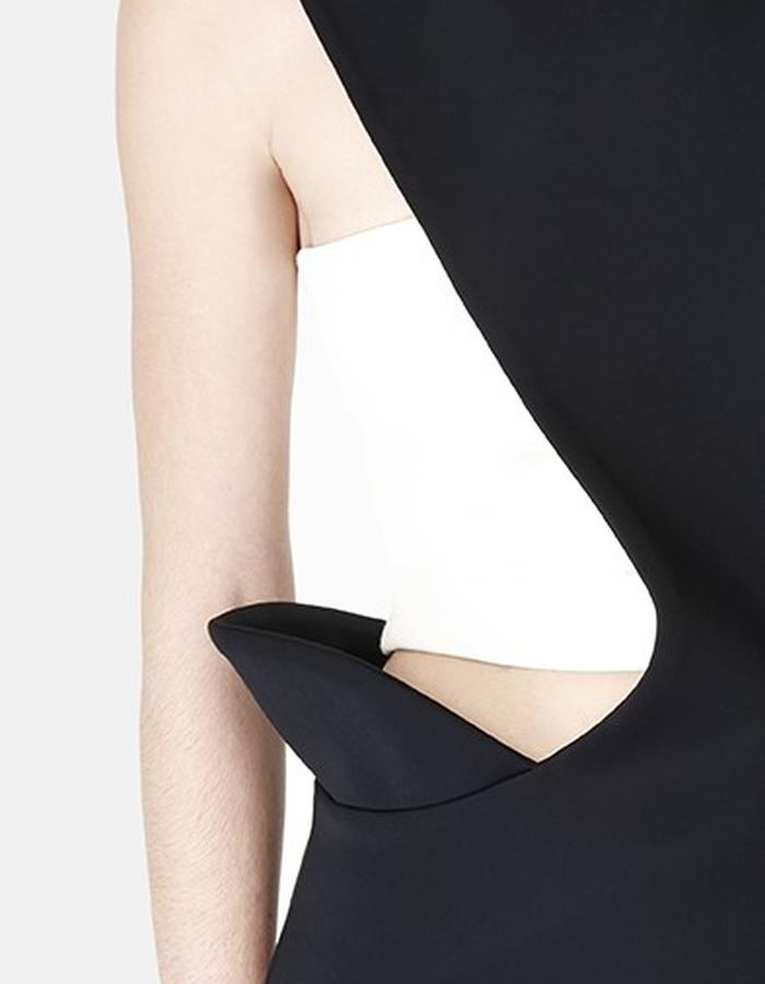 Sarah Bond Hakama Whisper Black Neoprene Dress and Wanderlust Lycra Tube Top