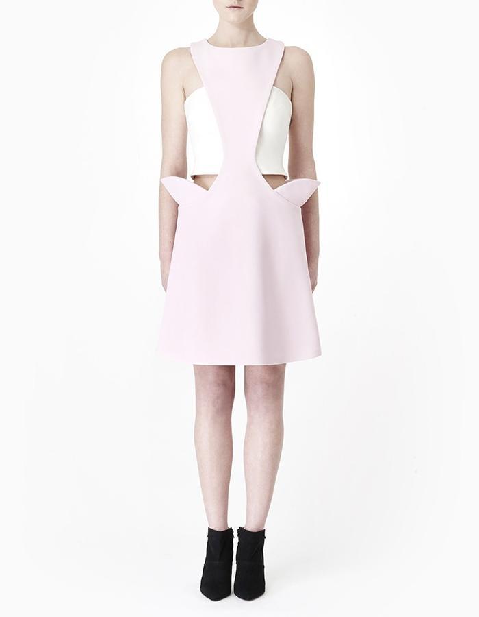 Sarah Bond Hakama Whisper Pastel Pink Neoprene Dress and Wanderlust Lycra Tube Top