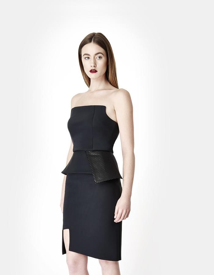 Sarah Bond Jou Jou Neoprene Black Corset and Femme Fatale Skirt