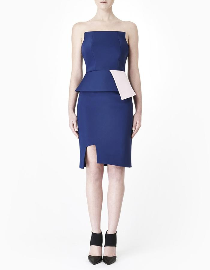 Sarah Bond Jou Jou Neoprene Navy Pink Corset and Navy Femme Fatale Skirt