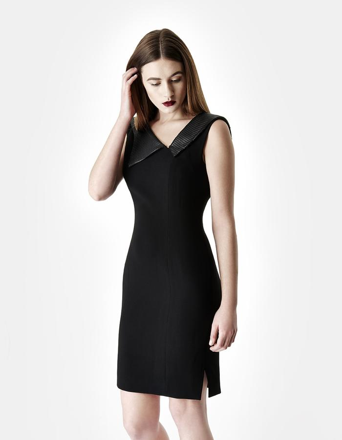 Sarah Bond Victoria Black Crepe Knee Length Dress