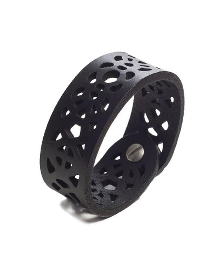 Leeanne black leather bracelet