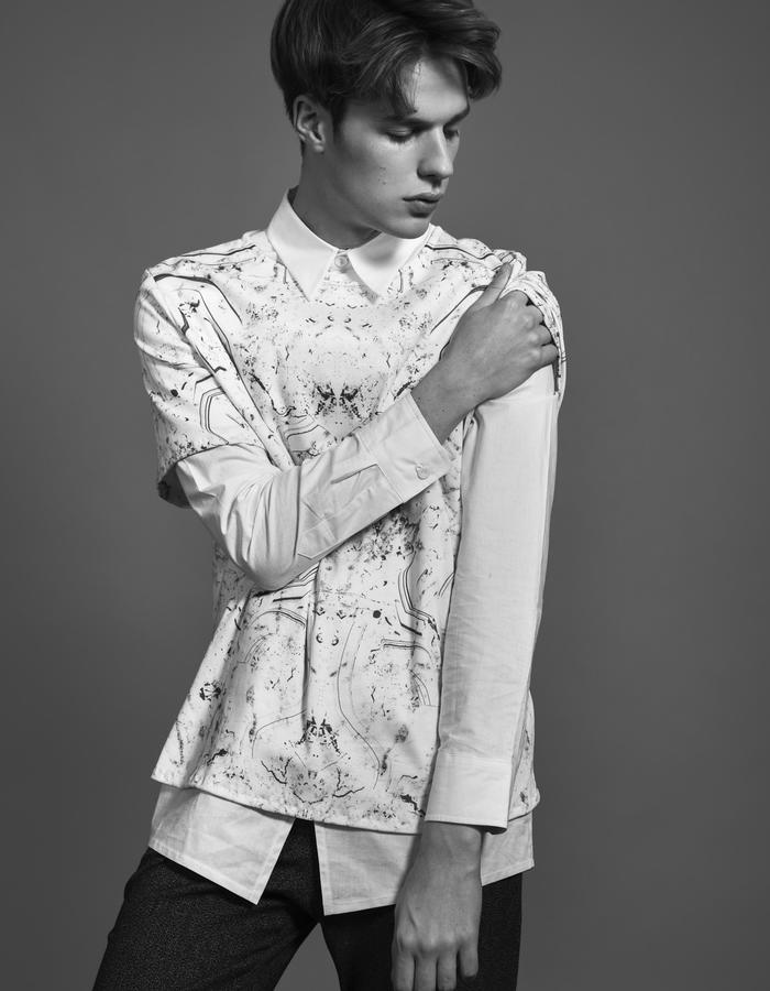 JANOS WHITE/T-Shirt + BERNAT WHITE/Shirt