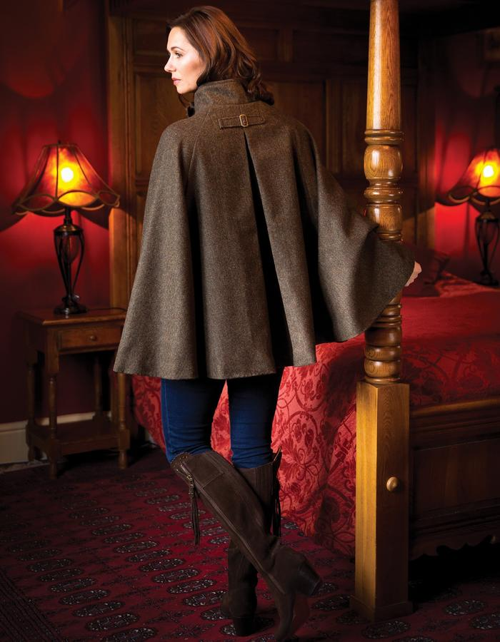 The Highlander cape back view