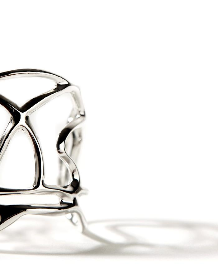 'Line one' sterling silver cuff.