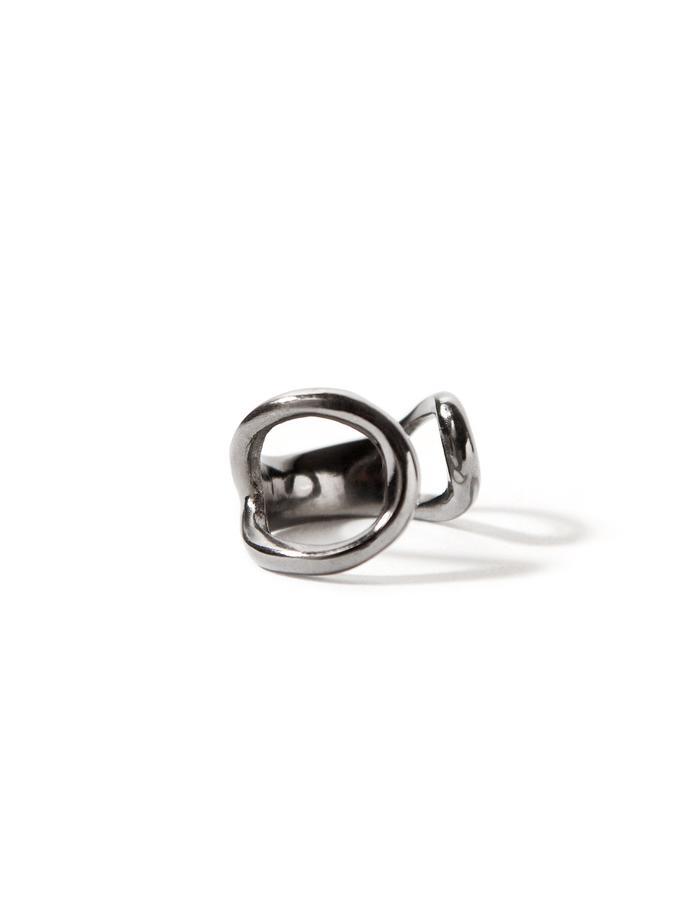 Harmony, black platinum plated chevalier (pinky) ring.
