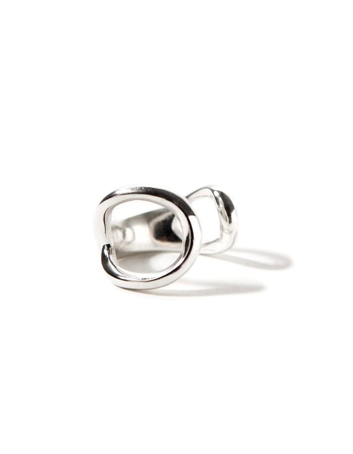Harmony, sterling silver chevalier (pinky) ring.