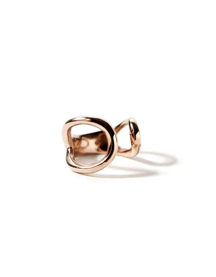 Harmony, sterling silver pink plated chevalier (pinky) ring.