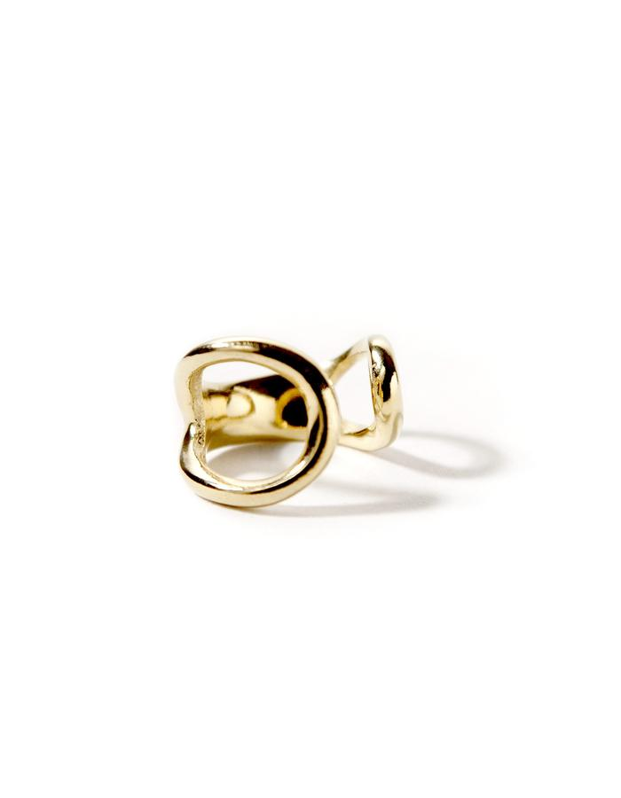 Harmony, gold plated chevalier (pinky) ring.